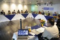 Nuestro Ministro Tito José Crissien Borrero en compañía de los Viceministros y equipo técnico del ministerio se reunieron para avanzar en la implementación de las recomendaciones orientadas a los focos temáticos de la Misión.