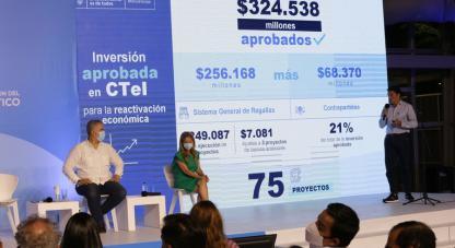 •El ministro de Ciencia, Tecnología e Innovación, Tito José Crissien, destacó aportes por $256.168 millones del fondo nacional de regalías y $68.369 millones de contrapartidas departamentales.